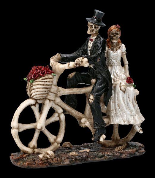 Skeleton Figurine - Lovers Wedding Hitch a Ride