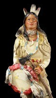 Indian Figurine - Warrior with Tomahawk and Shield