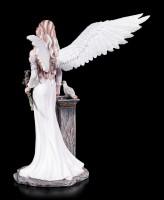 Engel Figur - Friedensengel Velda mit weißer Taube