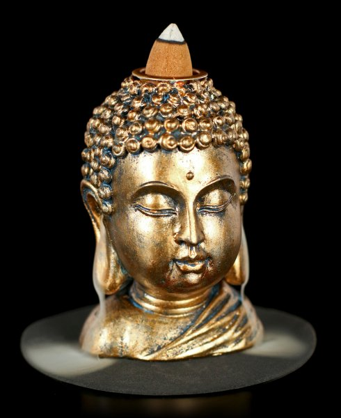Buddha Head Backflow Incence Cone Holder