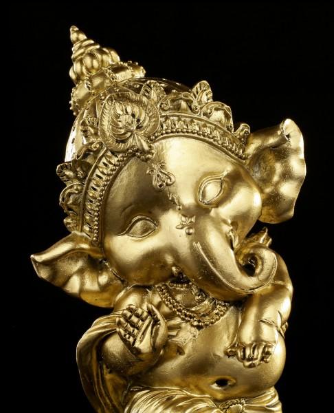 Ganesha Figur tanzend - goldfarben