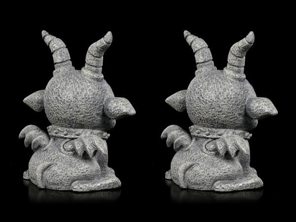 Gargoyle Figurines - Crazy Demon Set of 2