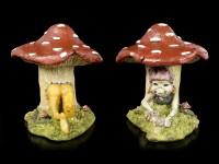 Pixie Figurine in Mushroom as Bookends