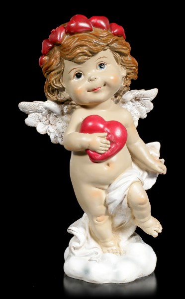 Cherub Figurine - Little Angel with red Heart