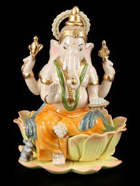 Bunte Ganesha Figur aus Porzellan