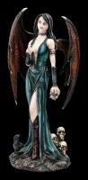 Dark Angel Figurine - Vampire Samira with Skull