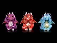 Drei Weise Drachen Figuren - Nichts Böses