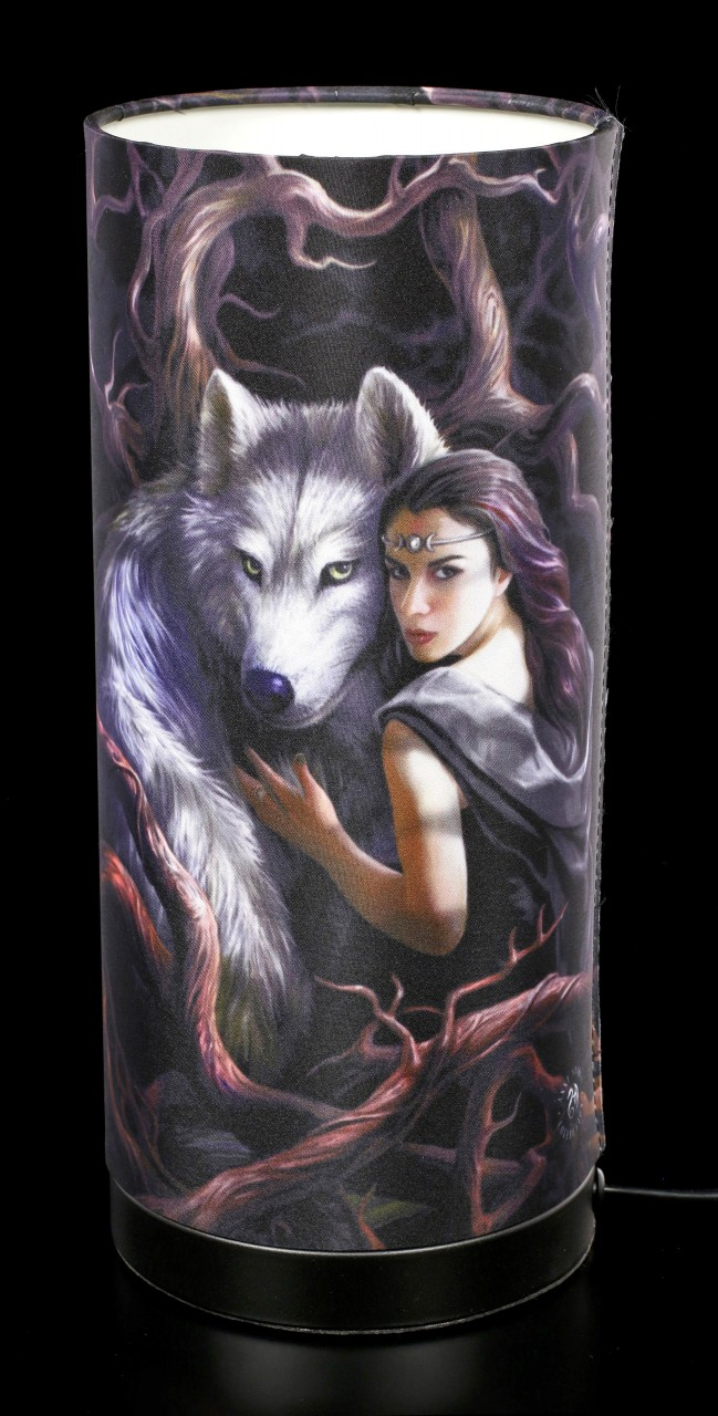 Tischlampe mit Wolf - Soul Bond
