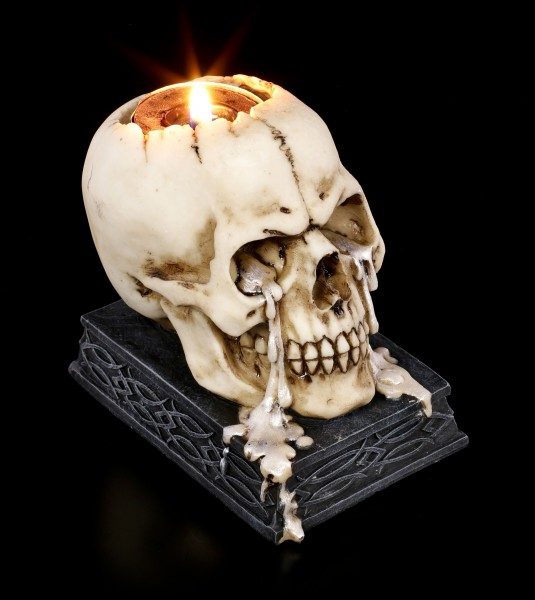 Skull Tealight Holder - Tears of Time