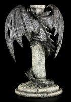 Large Dragon Figurine on Cross - Mortiferos