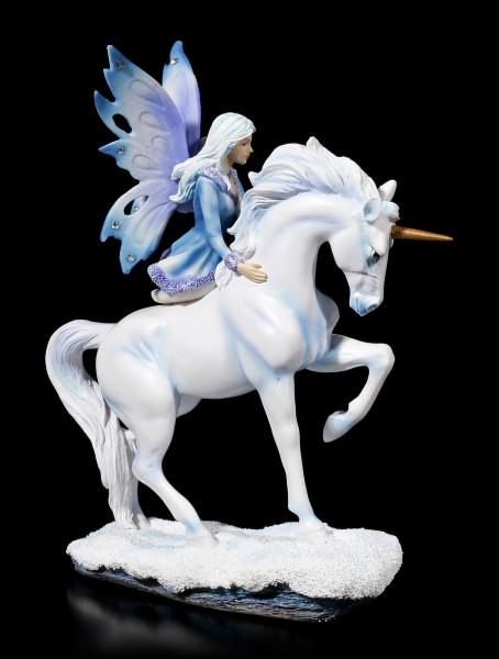 Fairy Figurine with Gemstones - Dialya on Unicorn
