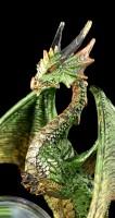 Dragon Figure with Snowglobe - Emerald Oracle