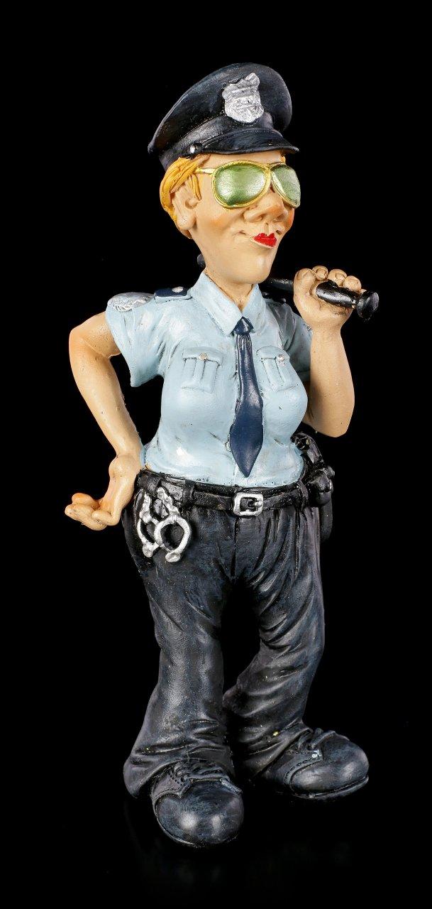 Funny Job Figur - Polizistin mit Schlagstock