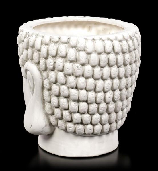 Terrakotta Blumentopf - Buddha Kopf