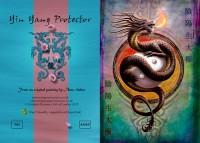 Fantasy Greeting Card Dragon - Yin Yang Protector