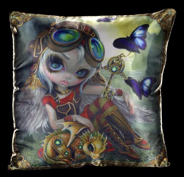 Großes Kissen mit Elfe - Clockwork Dragonling