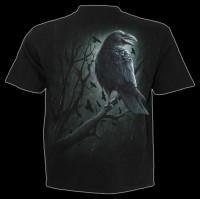 Spiral Raben T-Shirt - Shadow Raven