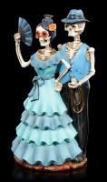 Skelett Figur - Wild West Blau
