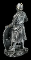 Templar Knight Figurine with Shield and Battleaxe