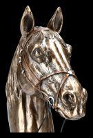 Pferdekopf Büste auf Sockel