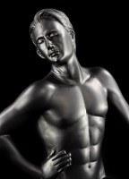 Male Nude Figurine - Paul black