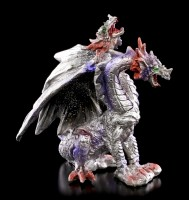 Two-Headed Dragon Figurine with Glitter