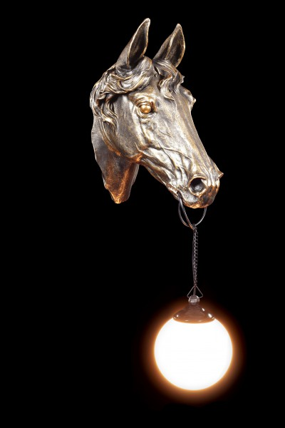 Pferde Kopf Lampe