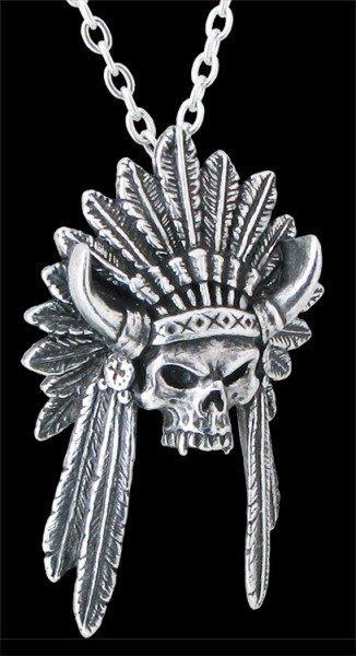 Alchemy UL13 Indianer Totenkopf Halskette - Geronimo