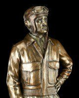 Pilot Figurine from World War 2 with Cap