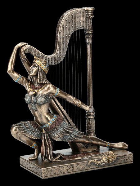 Ägyptische Figur - Tänzerin mit Harfe