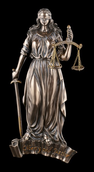 Lady Justice Wall Plaque with Scale and Sword