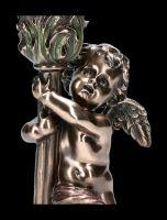 Kerzenhalter mit Putten Engel