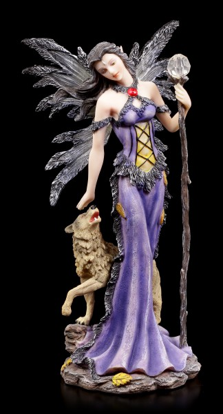 Fairy Figurine - Magician Filyina with Wolf