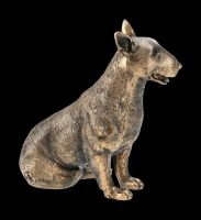 Dog Figurine - Bull Terrier bronze colored