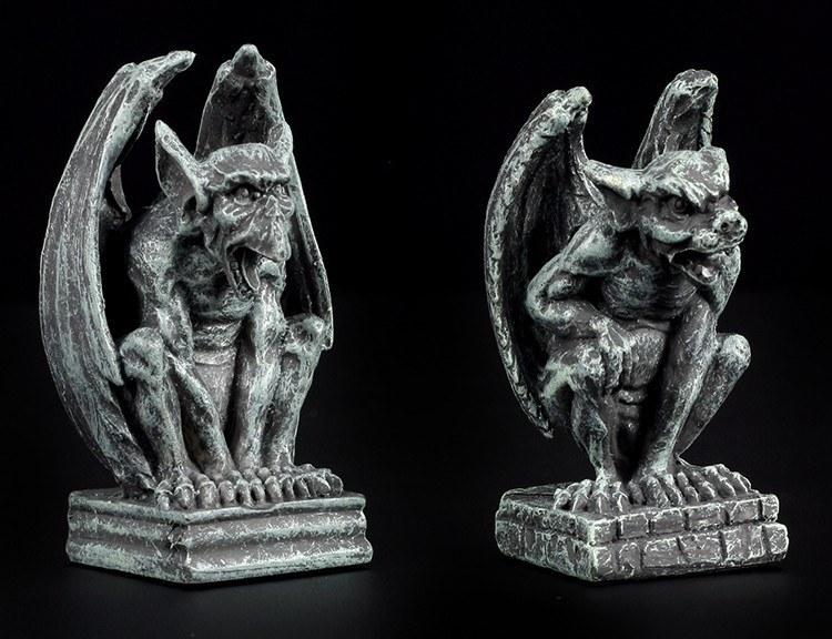 Mini Gargoyle Figures - Set of 2