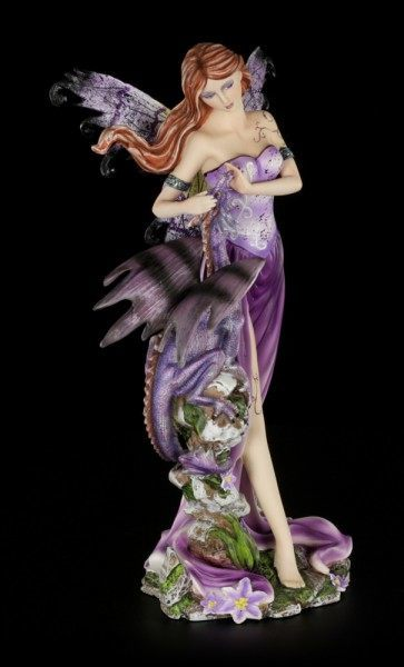 Elfen Figur - Melissa mit Drachen