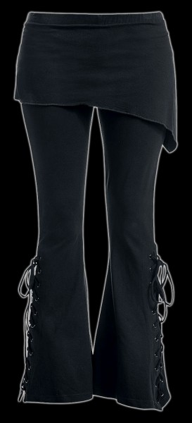 Gothic Schlaghose mit Überwurf 2in1 - Urban Fashion