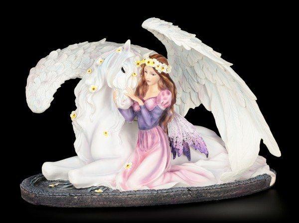 Elfen Figur - Prinzessin Amalia mit Pegasus