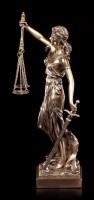 Justitia Figur mit Waage und Schwert