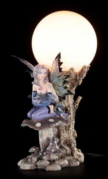 Fairy Table Lamp - Indis with Dragon Baby on Mushroom