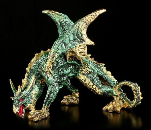 Vorschau: Drachen Figur grün - Emerald Creeper