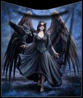 Fleece Blanket with Angel - Raven