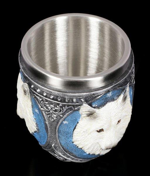 Trinkbecher - Weißer Wolf