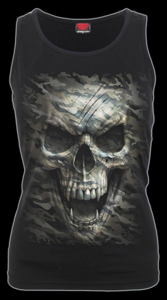 Damen Shirt mit Totenkopf - Camo-Skull