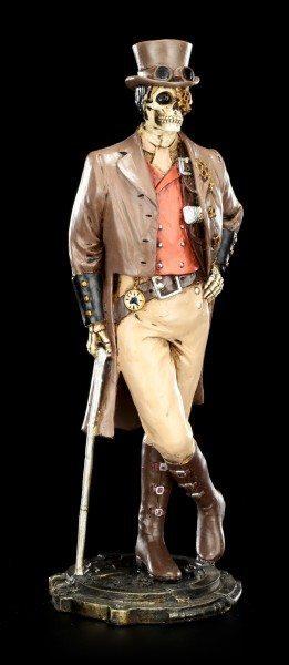 Steampunk Skelett Figur - Gentleman aus Knochen