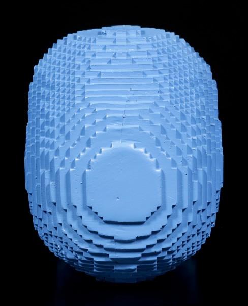 Pixel Totenkopf - blau
