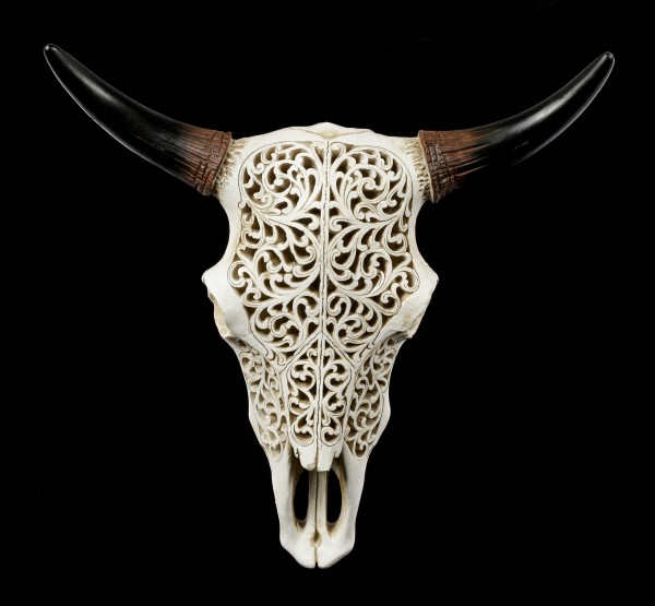 Wall Plaque Bull Skull with Ornaments