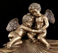 Schale - Patera mit Engeln auf Muschel