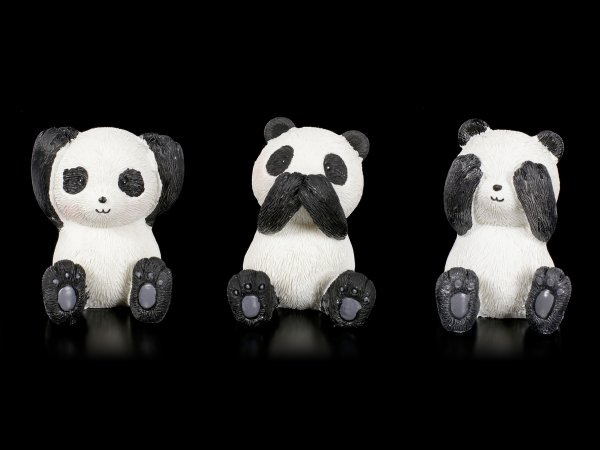 Panda Figuren - Nichts Böses