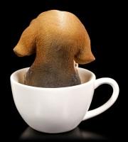 Hunde Figur - Beagle Welpe in Tasse